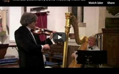 See Michael performing with renowned harpist David Watkins